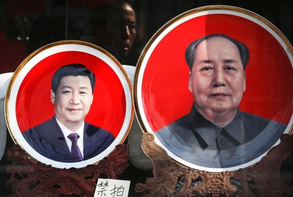 中國民眾自行成立「中國保衛毛澤東人民黨(衛毛黨)」,把現任領導人習近平晾在一旁。(美聯社)