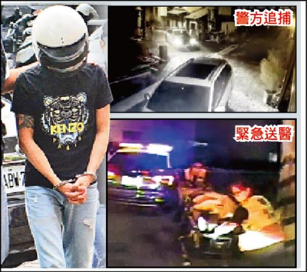 台中大里鐵工廠前晚傳槍擊案,消防人員將中彈洪男緊急送醫急救,警方昨逮捕凶嫌黃男。(記者陳建志翻攝)