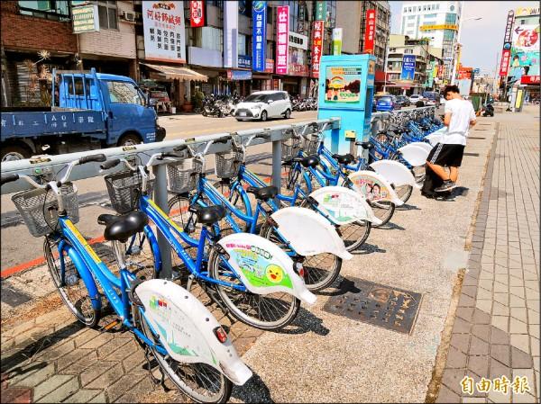 公共腳踏車至今年7月底,累計超過1963萬人次使用。 (記者王榮祥攝)