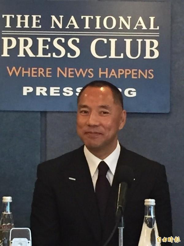 流亡美國的中國富豪郭文貴,被控洗錢在香港帳戶遭凍1年,申請解凍被拒。(資料照)