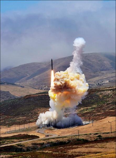 美日兩國曾於1960年代晚期密商部署反彈道飛彈系統,此為示意圖。(歐新社)