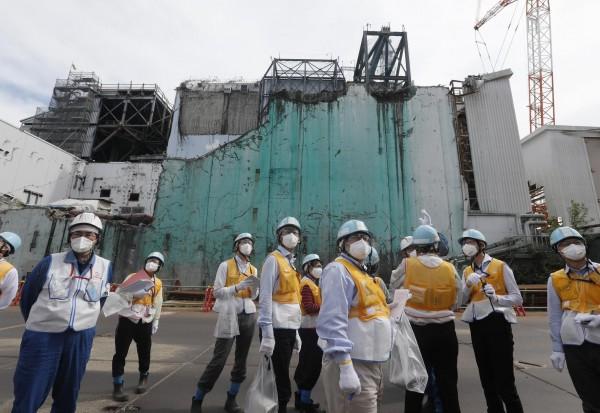 福島核災至今,福島第一核電站核污水淨化後的含氚水,仍無法成功完全去除其他放射性物質。(法新社)