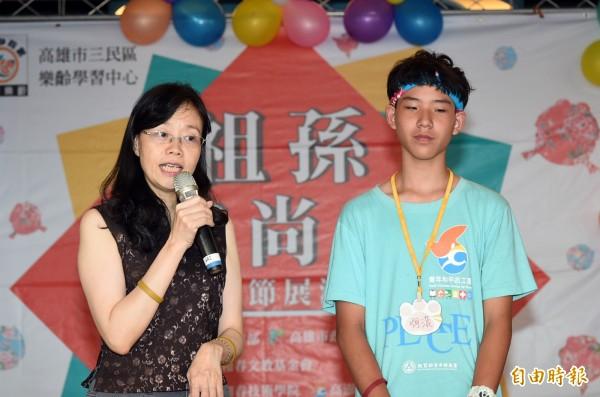 和春文教基金會呂綺修督導表示,,台灣已經進入高齡化社會,希望透過祖父母節慶祝活動,鼓勵祖孫三代同樂,重視對長者的關懷與感恩。(記者張忠義攝)
