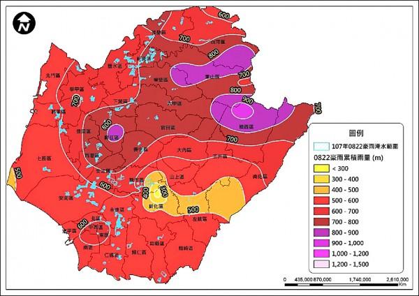 823水災台南淹水面積廣。(台南市府提供)