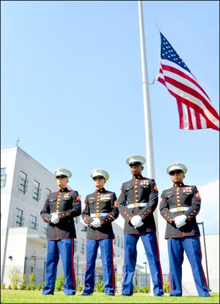 美國在台協會(AIT)內湖新館,將於9月正式運作,本報今報導美方將派陸戰隊進駐,負責保安任務。(法新社檔案照﹜