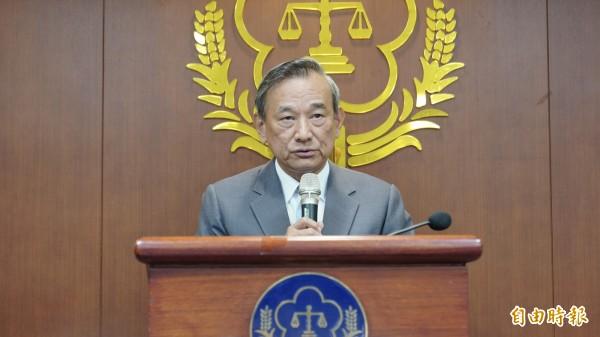 法務部政務次長陳明堂呼籲,少數國人不要有「殺人不會判死」、「只殺1人不致被處死」的錯誤觀念。(記者黃欣柏攝)