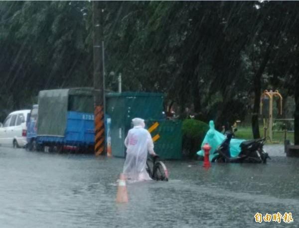 0823豪雨重創南台灣,台南也傳淹水災情。(資料照)