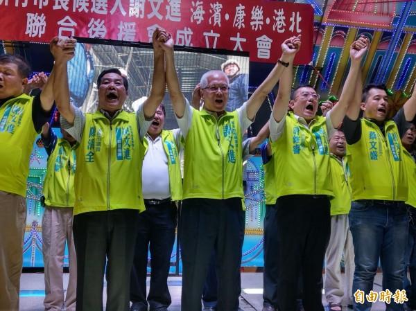 選戰開始加溫!新竹市無黨籍市長謝文進已成立多個後援會,預計10月6日成立競選總部。(記者洪美秀攝)