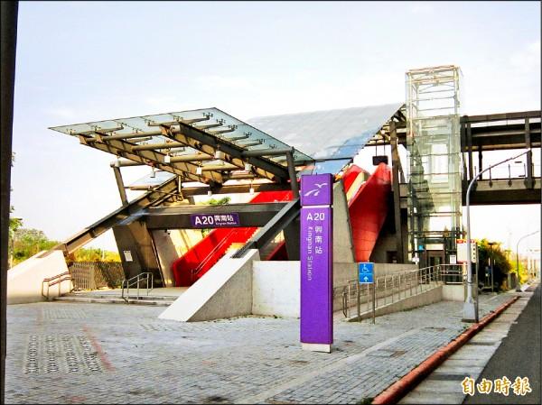 A20站區區段徵收工程是以機捷A20興南站為核心,向四方擴張,總面積53.93公頃。(記者謝武雄攝)