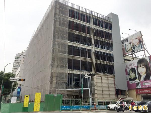 西區大益停車場將於今年10月底完工。(記者張菁雅攝)