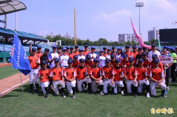莊敬高職成立棒球隊,為新北青棒增生力軍。(記者翁聿煌攝)