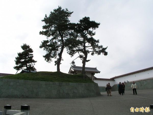 北海道發生強震,圖為道南松前城。(記者黃旭磊攝)