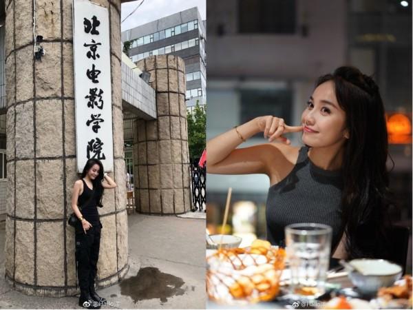 北京電影學院新生林博洋氣質出眾,樣貌神似女星Angelababy(楊穎)。(圖擷取自微博)