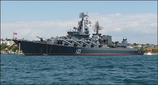 3日通過宗谷海峽的俄羅斯太平洋艦隊旗艦「光榮級(Slava Class)」飛彈巡洋艦「瓦良格號(Varyag)」,該級巡洋艦特點在於火力強大。(取自網路)