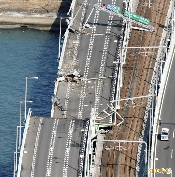 燕子颱風重創關西機場。(資料照,路透)
