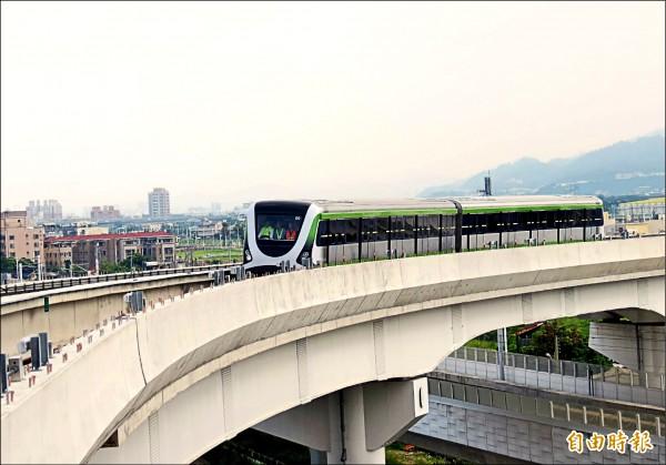 捷運綠線年底將試運轉,現正進行測試。 (資料照,記者張菁雅攝)