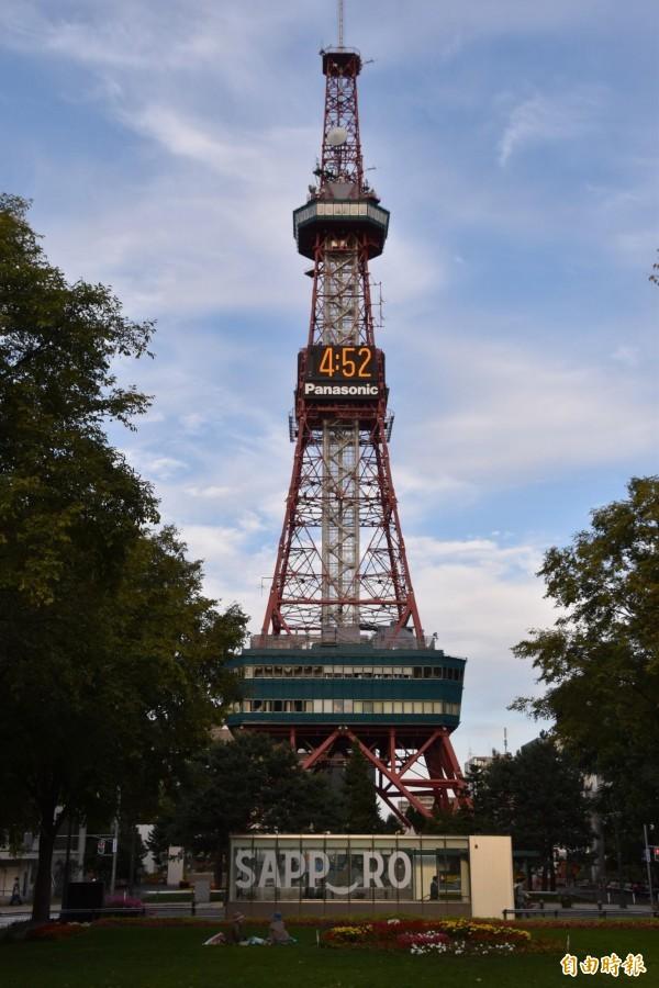 北海道供電尚未恢復正常,札幌市地標札幌電視塔取消夜間點燈。(記者蘇福男攝)