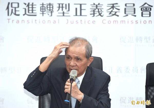 促轉會主委黃煌雄今天下午表示,這次促轉會副主委張天欽請辭的爭議是單一事件,促轉會將照常運作。(資料照)