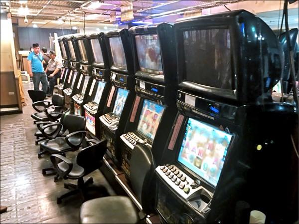 檢方指揮偵辦,今年5月搗破賭博電玩場,查扣近20年來單案最多的199台賭博機台。(資料照)