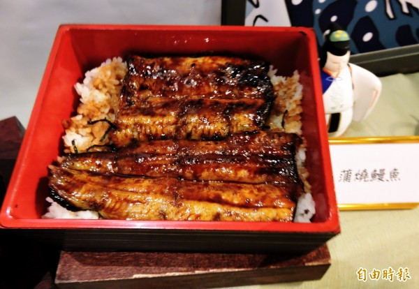 蒲燒鰻魚飯是一膳的招牌。(記者張菁雅攝)