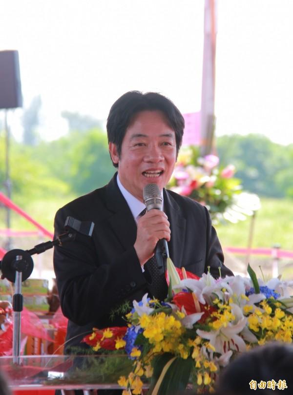 行政院長賴清德表示,中科二林園區將是吸引台商投資的最佳寶地。(記者陳冠備攝)