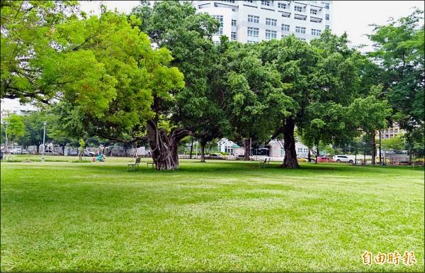台中市綠地將再增加二百公頃,爭取人均綠地全台第一,圖為南區半平厝公園。 (記者張菁雅攝)