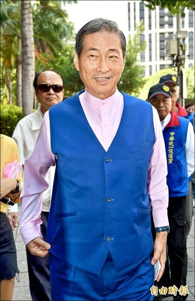 台北地檢署查統促黨疑接受中國金援案,昨傳喚統促黨總裁張安樂出庭說明。(記者羅沛德攝)