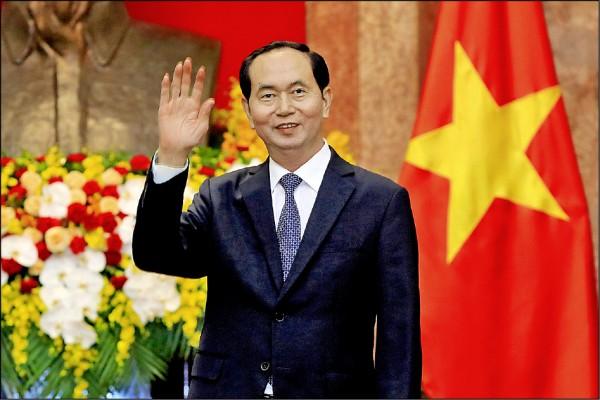 圖為陳大光今年3月23日在河內主席府等待俄羅斯外交部長拉夫羅夫大駕光臨。(路透檔案照)