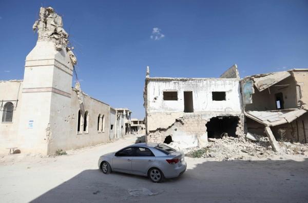 五角大廈發言人否認美國為首的聯軍在敘利亞境內運送IS武裝份子。(資料照,法新社)