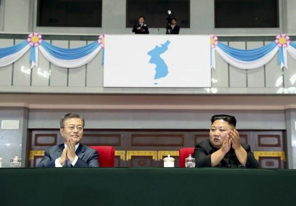 南韓總統文在寅上週赴平壤與北韓領導人金正恩舉行第3次「文金會」。(美聯社)