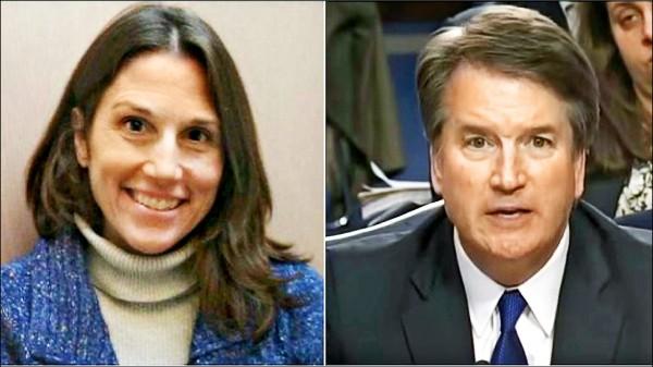美國聯邦最高法院大法官提名人卡瓦諾(右),又被媒體踢爆就讀耶魯大學期間,曾在宿舍派對上露出生殖器,擺在女同學拉米雷斯(左)面前,令她感覺大受侮辱。(取自網路)