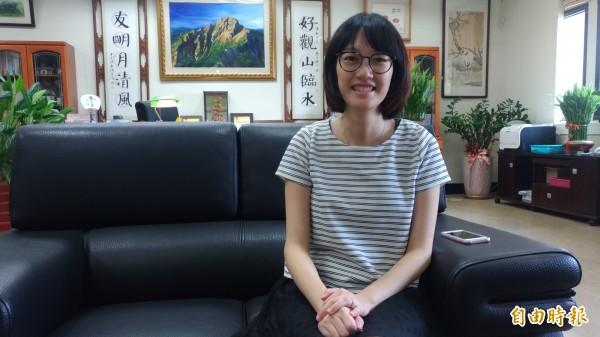 虎尾農工特教老師魏香婷獲全國特殊教育優良人員,雲林縣唯一獲獎。(記者廖淑玲攝)