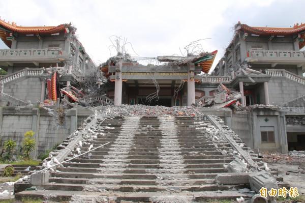 明日將拆除「毛澤東紀念館」。(記者陳冠備攝)