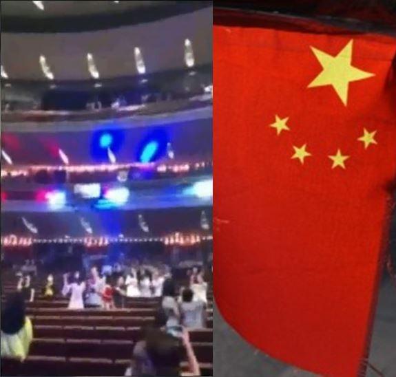 中國民眾齊聲高唱《Do You Hear the People Sing?》,影片在微博火熱延燒。(左:圖擷取自微博,右:法新社)