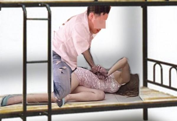 身高180的黃男壓住身高不到140的女同事,剝光衣服襲胸摸下體,被害女子掏出開瓶器,以酒刀揚言自殺,才逃出魔爪。黃男被依強制性交罪判4年2個月。(示意圖)