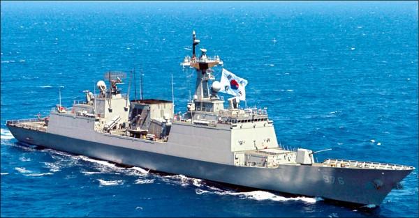 南韓驅逐艦文武大王號檔案照。(取自網路)