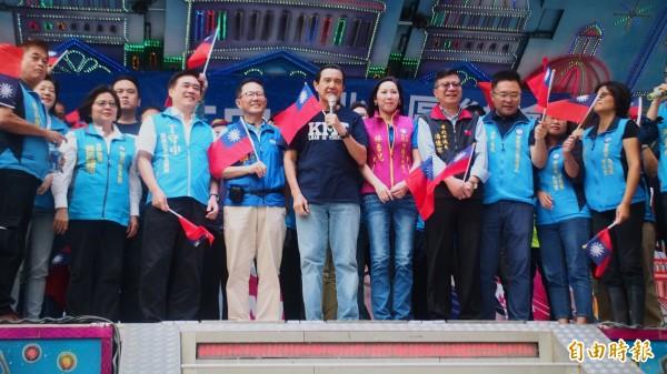 國民黨台北市長參選人丁守中北投區後援會今天成立。(記者簡惠茹攝)
