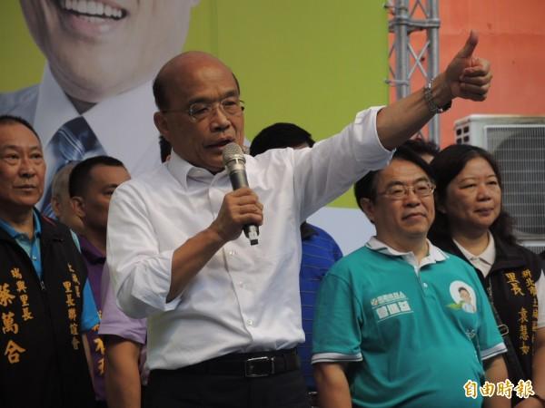蘇貞昌今天一口氣成立5區的競選總部。(記者翁聿煌攝)