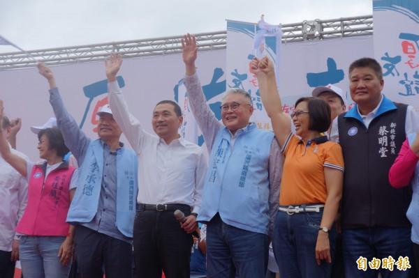 國民黨新北市長參選人侯友宜今天舉辦蘆洲競選總部成立大會。(記者葉冠妤攝)