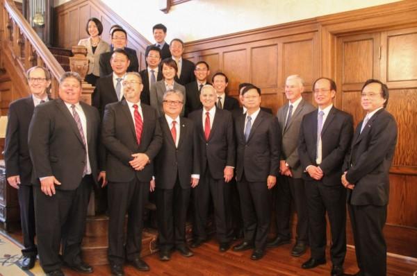 台灣和美國簽署價值15.6億美元(約474.96億元台幣)的大豆採購意向書。(圖擷自推特)