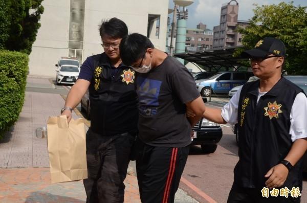 涉嫌虐打、性侵5歲女童,桃園龍潭食品行老闆遭羈押禁見。(記者鄭淑婷攝)