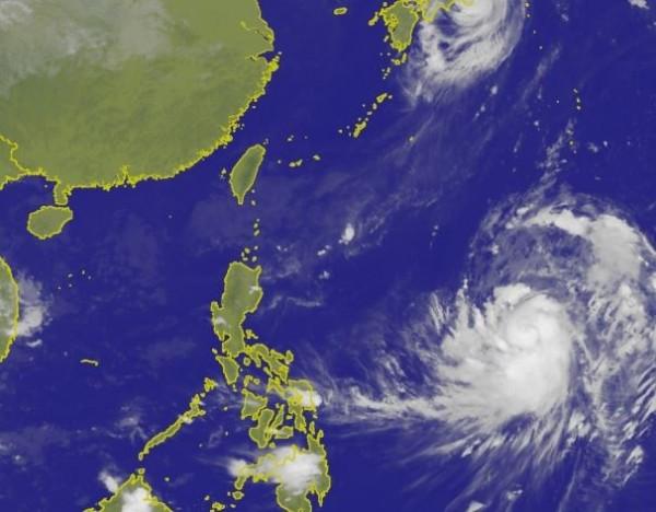 中央氣象局表示,康芮最快週二(10月2日)就有機會增強為強烈颱風。(圖擷取自中央氣象局)