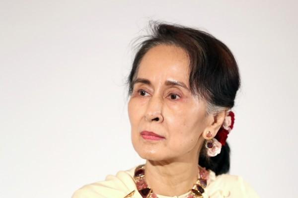 緬甸實質領導人翁山蘇姬。(彭博)