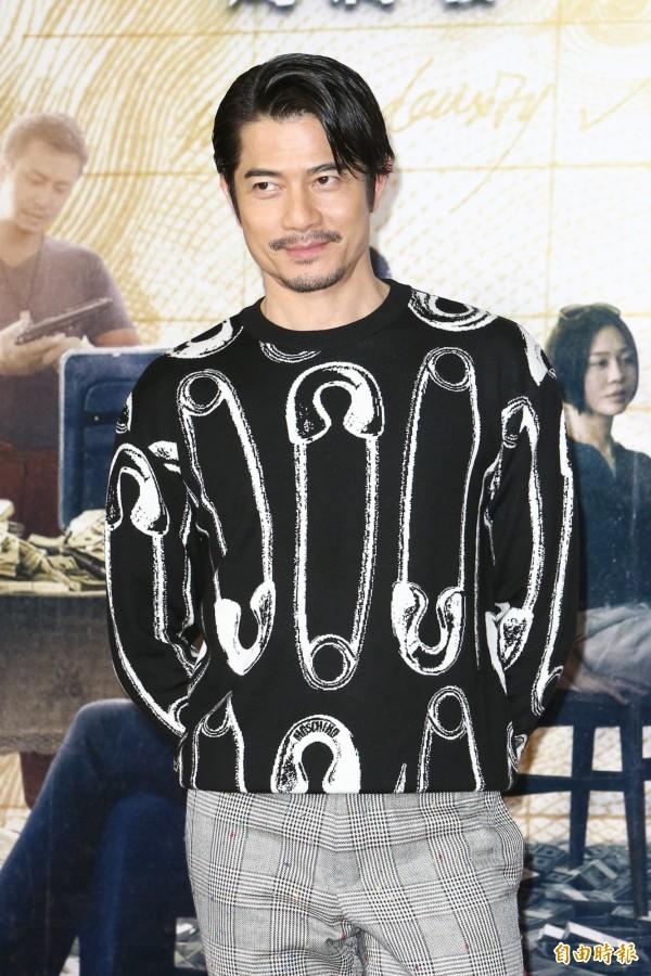 圖為郭富城出席電影《無雙》首映會。(記者陳逸寬攝)