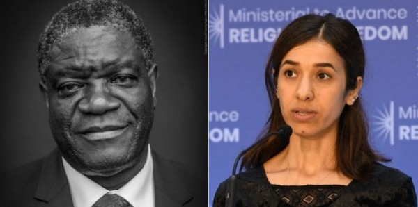 他們致力於中止性暴力行為變成戰爭或武裝衝突的武器,因此獲得今年的諾貝爾和平獎。(圖擷取自諾貝爾獎推特)