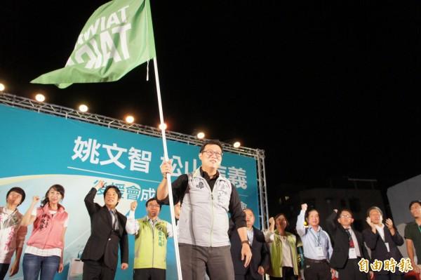 民進黨台北市長參選人姚文智連日就對手柯文哲捲入器官仲介議題,向柯P提出質疑。(記者黃建豪攝)