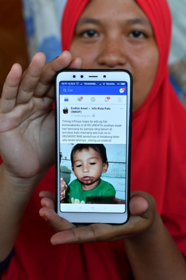 男童消失後,叔叔在臉書貼出尋人啟事(見圖),結果5日有網友聯繫他,讓一家人又驚又喜。(法新社)