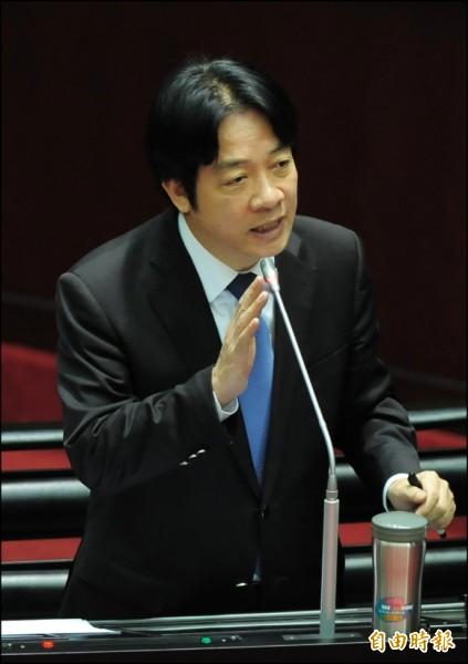 行政院長賴清德昨答詢時表示,台灣的確與美國同樣追求自由民主,如果可以建交,這是非常好的事情,「可以朝這方向努力」。(記者王藝菘攝)