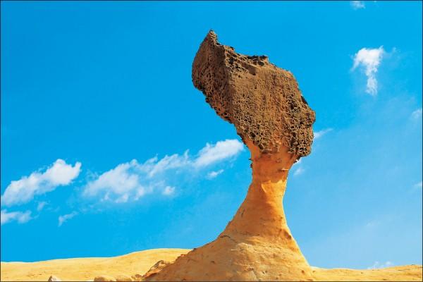 野柳地質景觀特殊,是觀光客拍照熱點。(資料照)