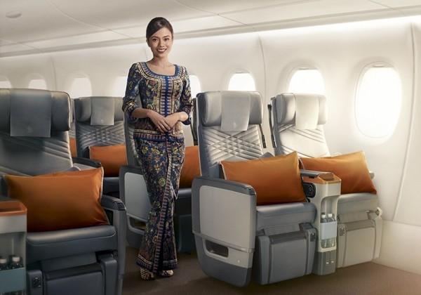新加坡航空今天重啟全球最長航線,使用空中巴士最新型A350-900ULR「超長程機型」,首航新加坡─紐約航線。(新航提供)